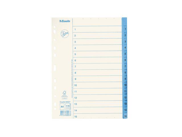 Pärmregister 1-15 papper Jopa 10st