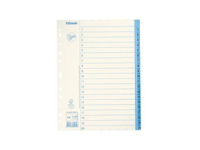 Pärmregister 1-20 papper Jopa 10st