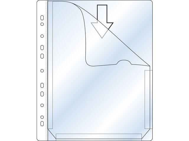 Plastfickor Bälg för pärm A4 0,17 klar - 25st