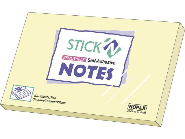 Notisar Stick'n Notes 76x127mm gul 12st