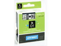 Märkband DYMO D1 19mm svart på vit