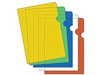Plastmapp A4 sorterade färger 0,12 - 100st