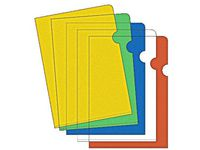 Plastmapp A4 blå 0,12 - 100st