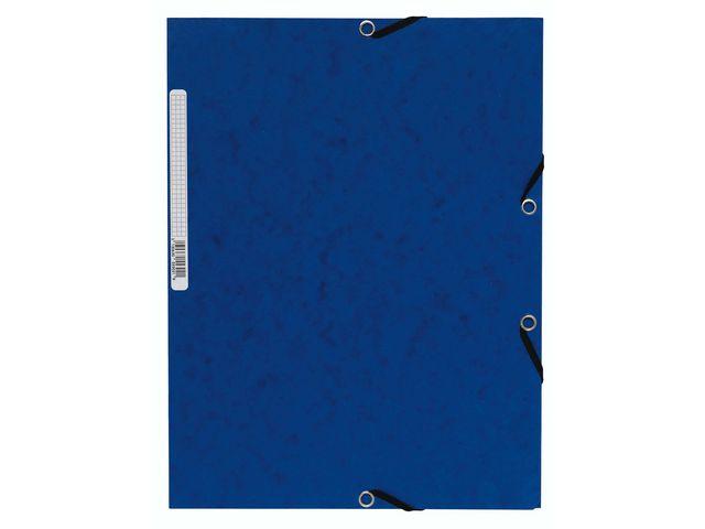 Gummibandsmapp 3klaff blå 10st