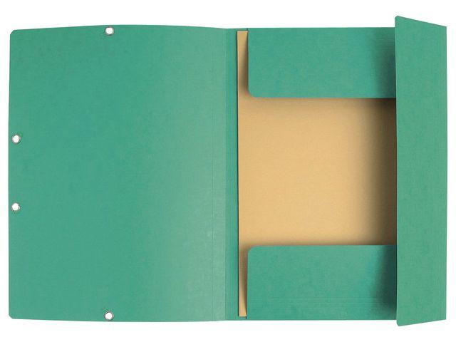 Gummibandsmapp 3klaff grön 10st
