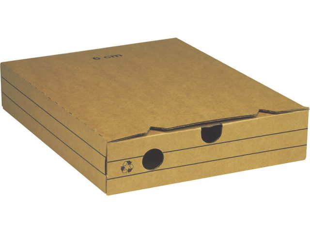 Arkivbox A4 60mm brun 25st