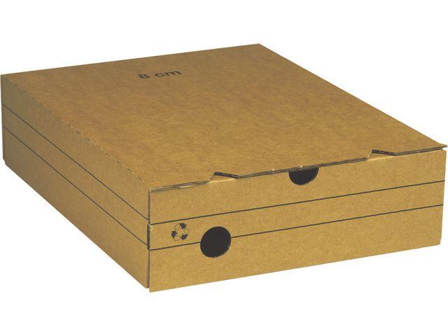 Arkivbox A4 80mm brun 25st