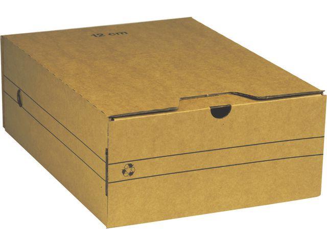 Arkivbox A4 120mm brun 25st