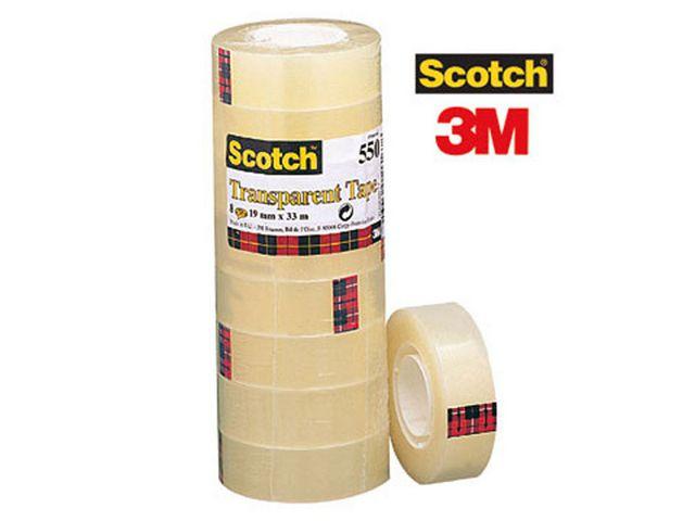 Kontorstejp SCOTCH 550 transp. 33mx19mm