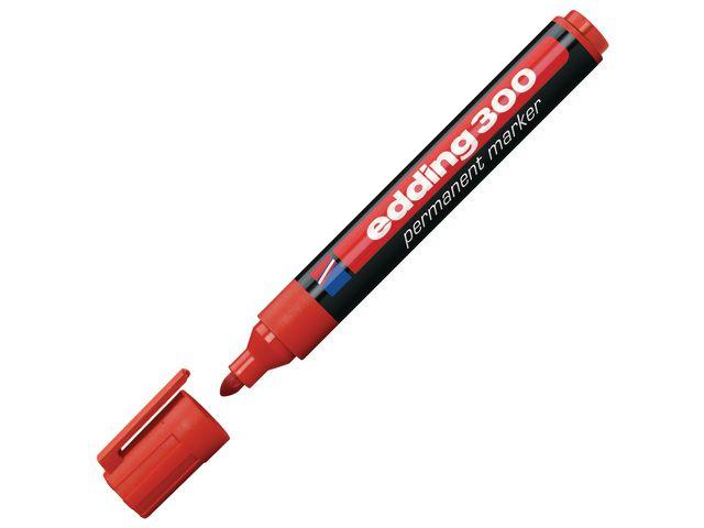 Märkpenna EDDING 300 röd rund spets 10st