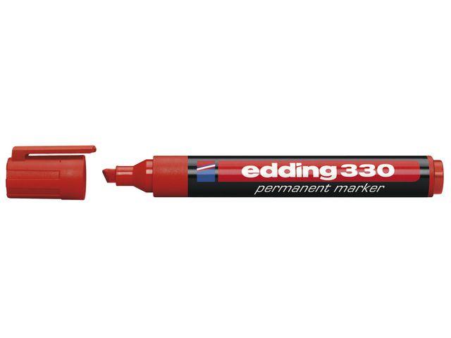 Märkpenna EDDING 330 röd snedskuren spets 10st