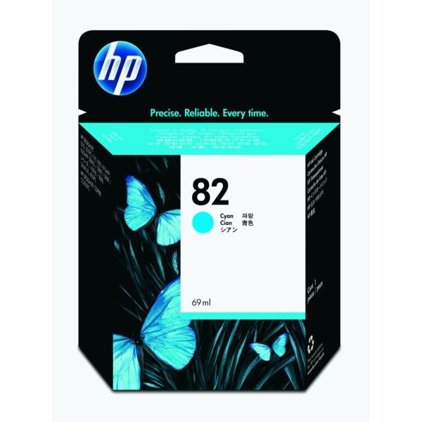 HP bläck Cyan/blå nr: 82 - (69ml) - C4911AE