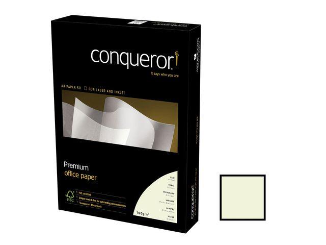 Papper struktur CONQUEROR Laid  A4 vitt 100g 500/fp