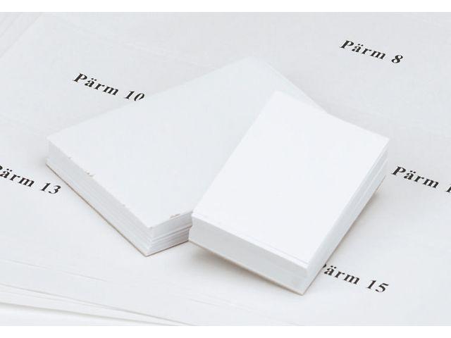 Etikett instick pärm 60mm vit 100/fp