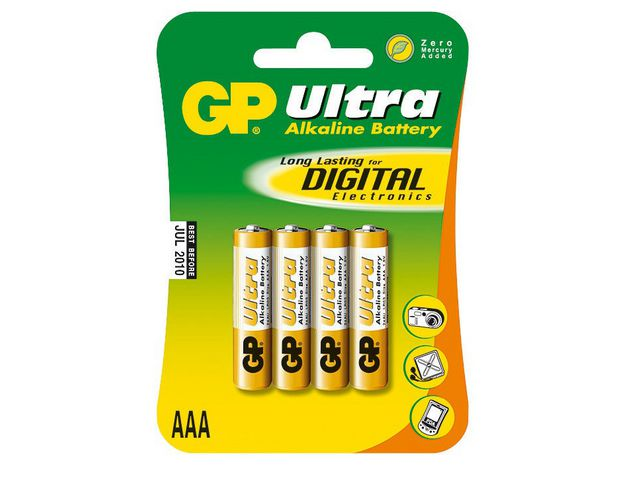 Batteri GP Ultra LR03 - AAA 1,5V 4st/fp