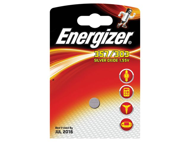 Batteri 357 ENERGIZER Cell Silveroxid