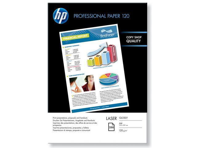 HP Proffesional Glossy Laser A4 120g 250ark