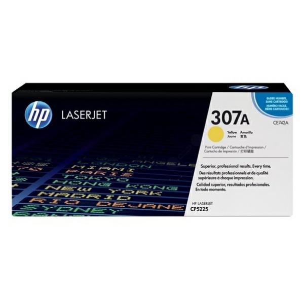 Lasertoner CE742A Gul - 7300sidor - HP original
