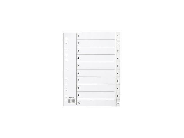 Pärmregister plast vit 1-10