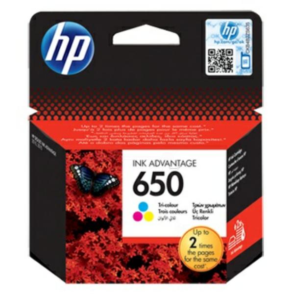HP bläck 650 3-färg 200sidor - original
