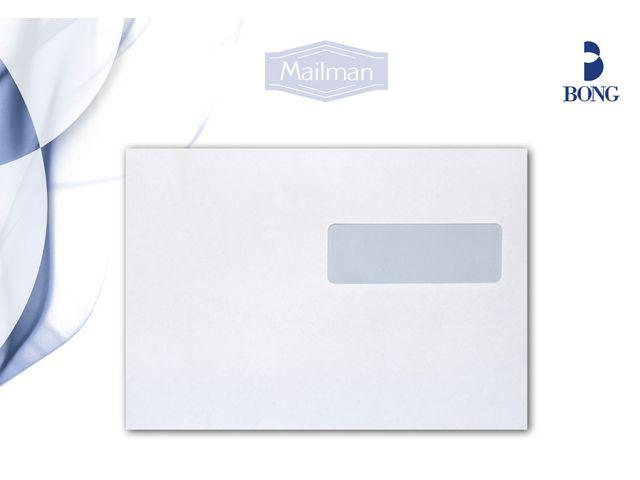 Kuvert C5 H2 vita (fönster-höger) självhäftande med remsa 500st