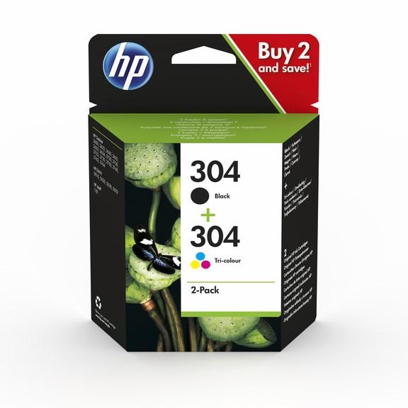 HP bläck 304 svart+3färg 120/100sidor - original