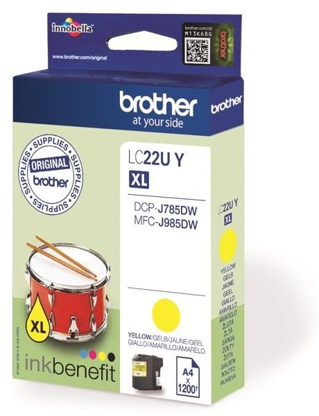 Brother LC22U XL bläck Gul 1200sidor original