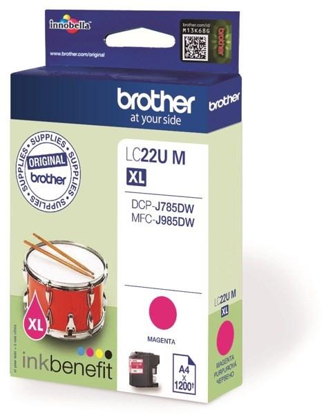 Brother LC22U XL bläck Röd /magenta 1200sidor original