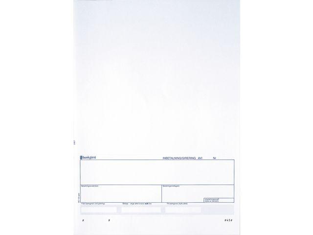Laserark 57827 (blåtonad med Bankgirotalong) 250ark
