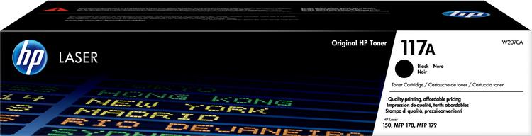 Lasertoner 117A svart - 1000sidor - HP original