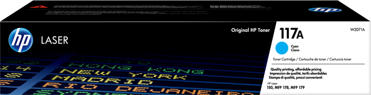 Lasertoner 117A blå/cyan - 700sidor - HP original
