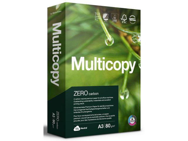 Papper MultiCopy Zero A3 ohålat 80g 2500ark