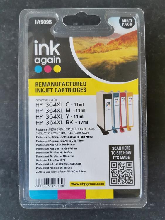 Bläck 364XL HP-kompatibel kit 4färg BK/C/M/Y