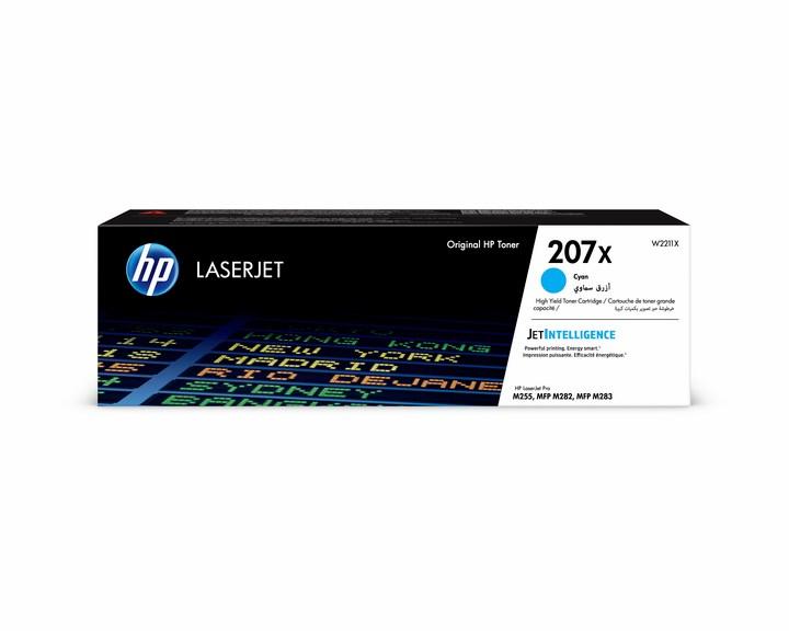 Lasertoner W2211X blå/cyan - 207X - 2450sidor - HP original