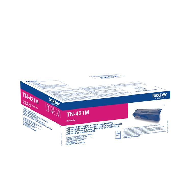 Toner TN421M - röd/magenta 1800sidor - original
