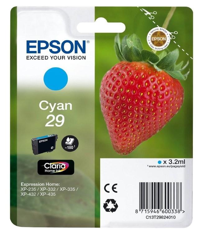 Epson 29 Cyan blå