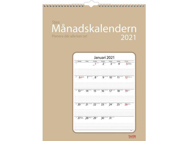 Stora Månadskalendern -1726  (2021)