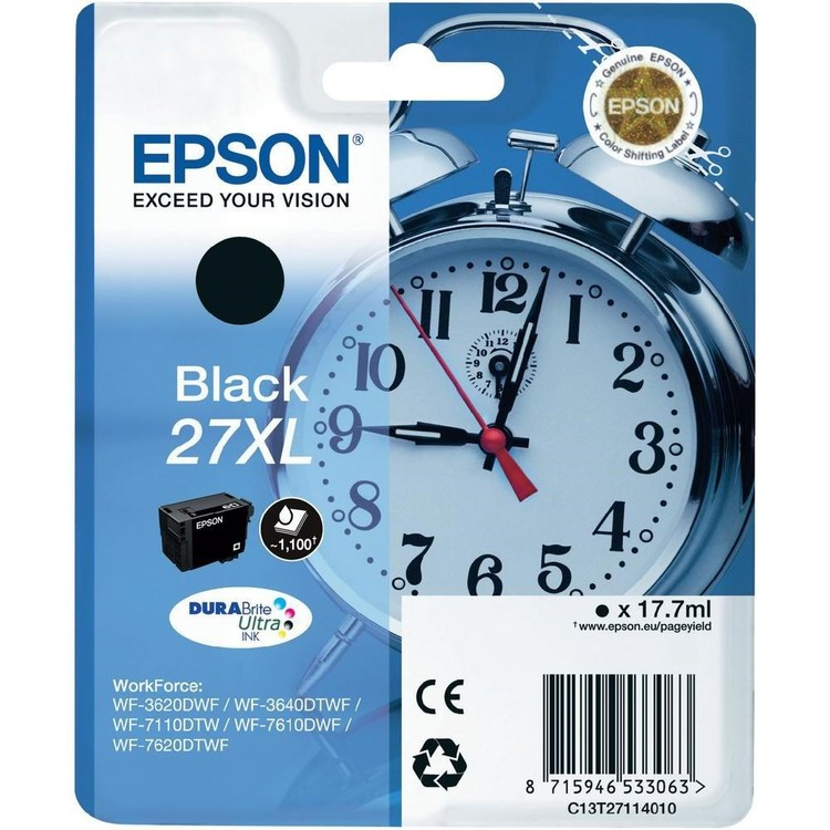 Epson 27XL svart  1100sid