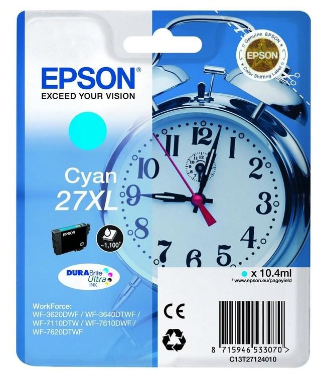 Epson 27XL cyan/blå  1100sid
