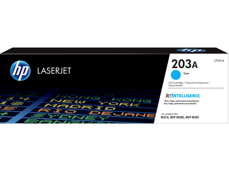 Lasertoner CF541A Cyan/blå - 203A - 1300sidor - HP original