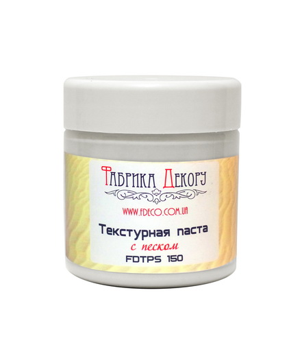 Texture paste with white sand