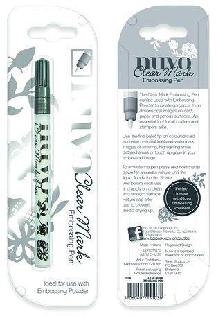 """Clear marker """"Embossingpenna"""""""