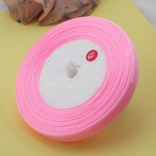 Organzaband  rosa 1 cm