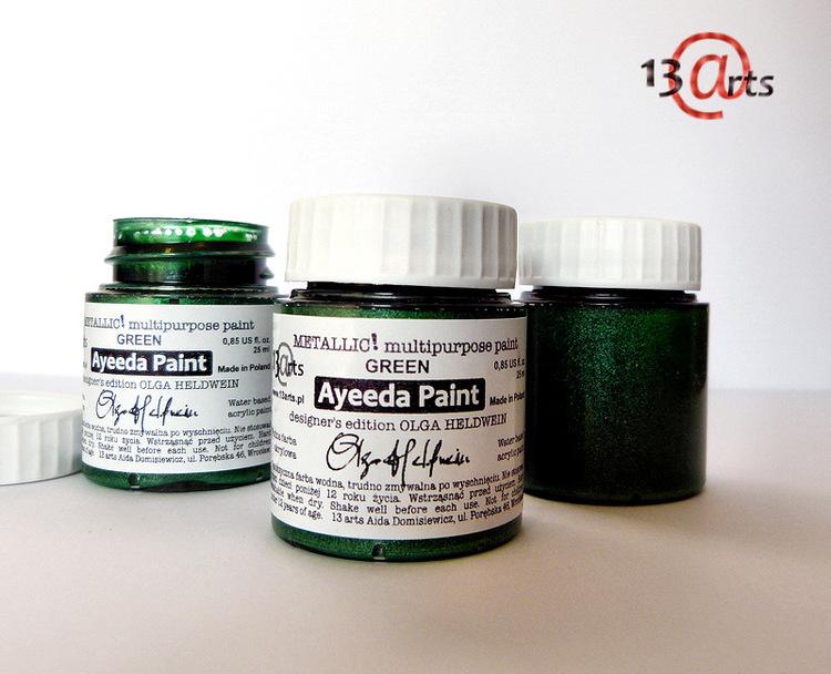 13 Arts Metallic färg  Green
