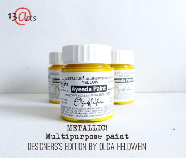 13 Arts metallic färg gul