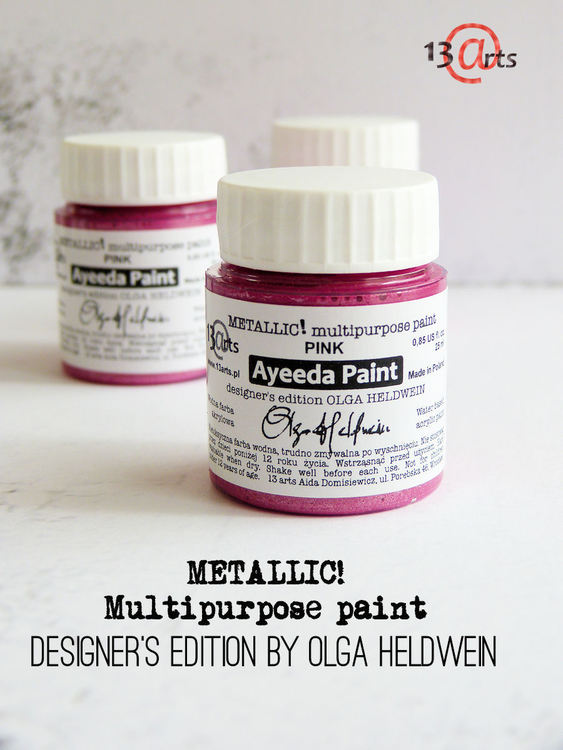 13 Arts Metallic paint Pink