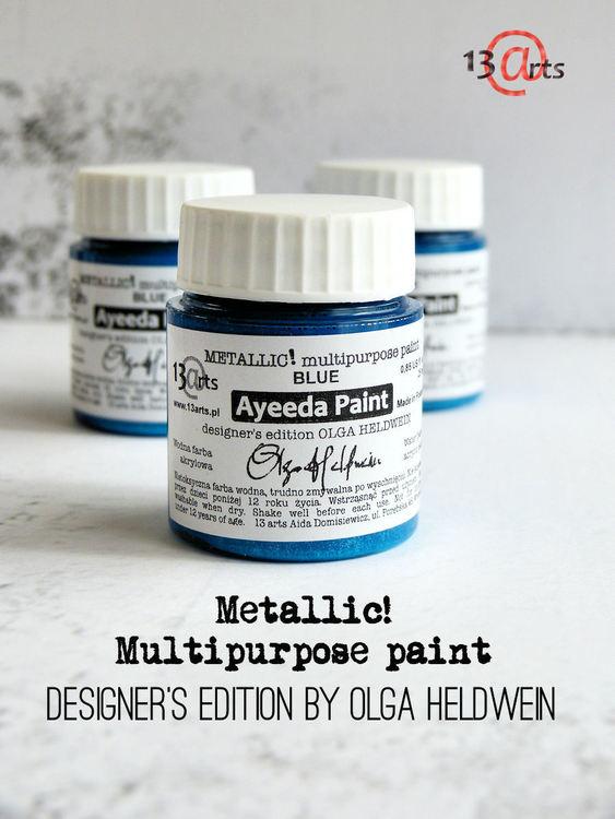 13 Arts Metallic paint Blue