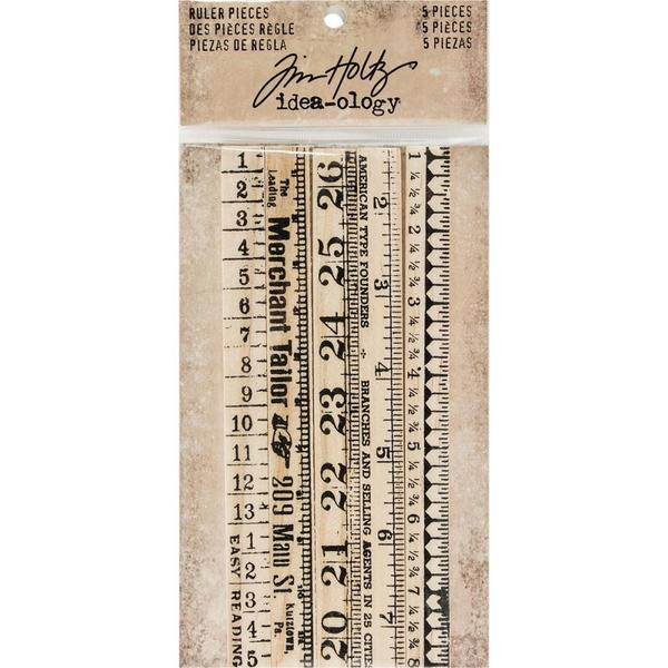 Tim Holtz Wooden Ruler 5 st 78