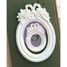 Memory Hardware Blanc Fleur Oval Frame 2 st
