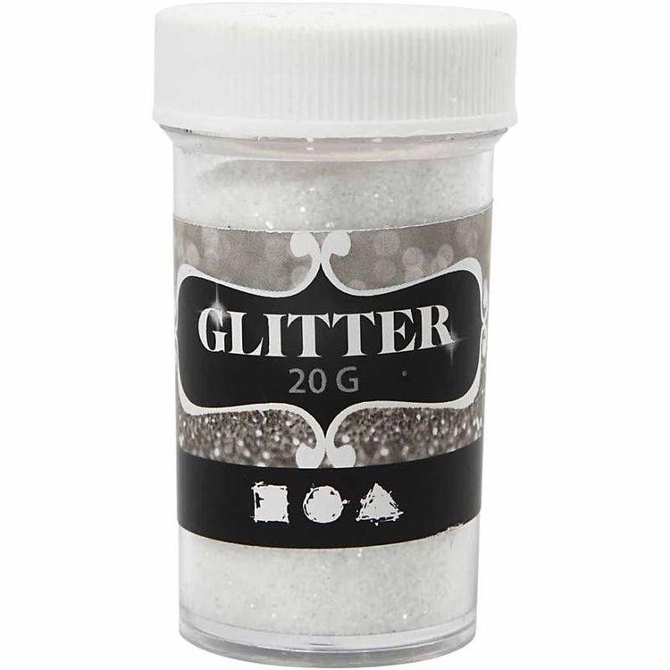Glitter Vitt 20 gr